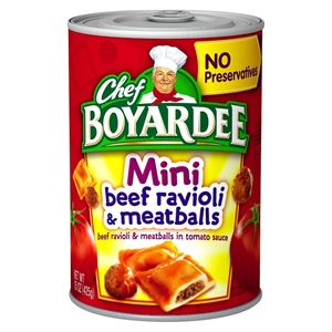Chef Boyardee Mini Beef Ravioli & Meatballs 15 oz