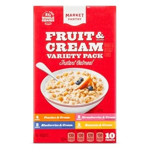 Instant Oatmeal Fruit & Cream Variety 10ct - Market Pantry