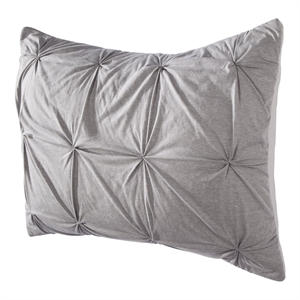 Jersey Quilted Pillow Sham (Standard) Gray - Room Essentials