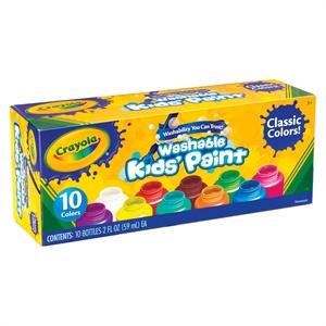 Crayola Kids' Paint, 2oz, Washable, 10ct - Classic Colors