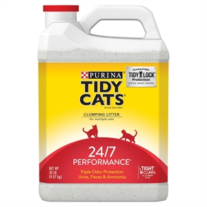 Purina Tidy Cats Clumping Cat Litter 24/7 Performance for Multiple Cats 20 lb. Jug
