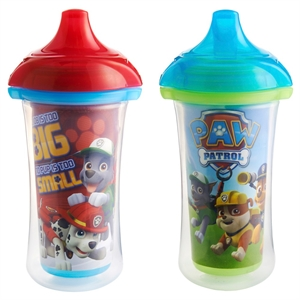 Munchkin Paw Patrol Click Lock 9oz Insulated Sippy Cup - 2 Pack, Boy, Red/Blue