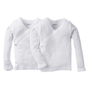 Gerber Baby White Long-Sleeve 2 Pack Sidesnap Shirt 0-3M, Infant Unisex, Size: 0-3 M