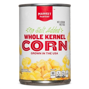 No Salt Added Whole Kernel Sweet Corn 15.25 oz - Market Pantry