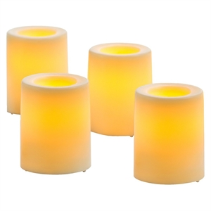 4 Pack Bisque Wax Dipped Votives - Threshold, Ivory