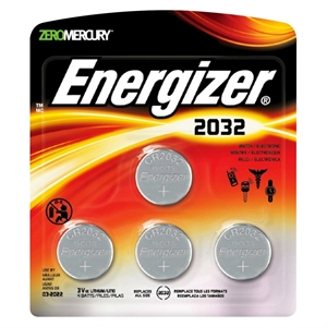 Energizer 2032 Coin Lithium Batteries 4 Count (2032BP-4)