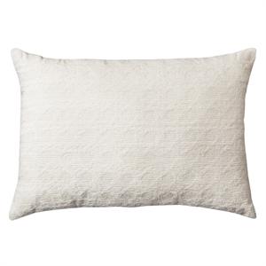 """Cream (Ivory) Cane Chenille Oblong Toss Throw Pillow (20""""X14"""") - Threshold"""