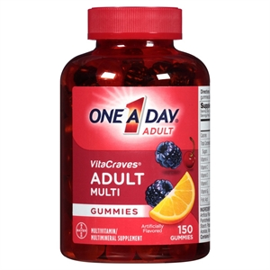 One A Day Vitacraves Multivitamin / Multimineral Supplement Gummies for Adults - 150 Count