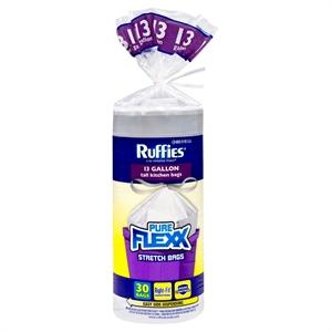 Ruffies Pure Flexx Trash Bags 13 gal 30 ct