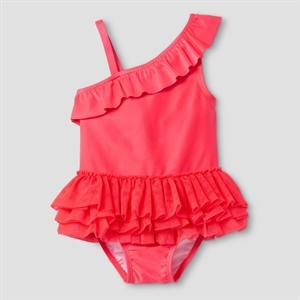 Toddler Girls' One Shoulder Tutu Swimsuit Extra Red 2T - Cat & Jack, Toddler Girl's, Pink