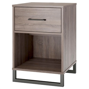 Mixed Material Nightstand Brown - Room Essentials