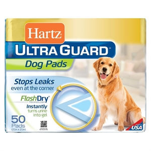 Hartz Ultra Guard Dog Pads Flash Dry 50 ct