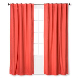 """Twill Light Blocking Curtain Panel Melon (42""""x84"""") - Pillowfort"""