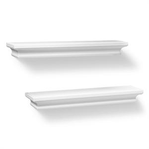 Set of 2 Traditional Shelves - White (15.75) - Threshold