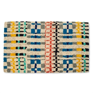 """""""Doormat Scattered Grid Multicolored (1'6""""""""x2'6"""""""") - Threshold, Athens Blue"""""""