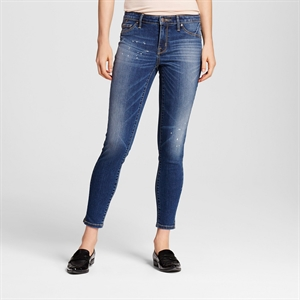 Women's Mid-rise Jegging Dark Wash 0R - Mossimo, Size: 0, Blue