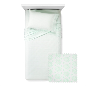 Mint Cool Burst Sheet Set (Queen) - Xhilaration, White Green