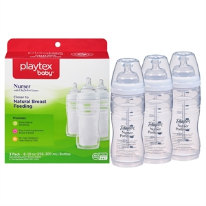 Playtex Baby Nurser With Drop-Ins Liners 8oz 3 Pack Baby Bottle, None - Dnu