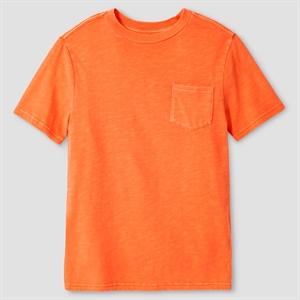 Boys' Garment Dyed Pocket T-Shirt - Cat & Jack, Boy's, Size: XS, Orange