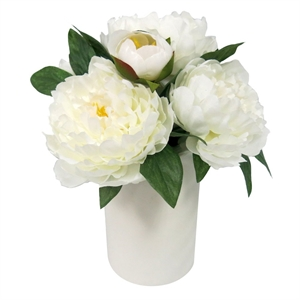 Artificial Peony Arrangement Large - White - Threshold