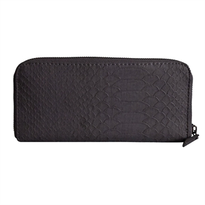 Women's Double Zipper Faux Leather Wallet with Wristlet Grey - Mossimo
