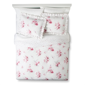 Sunbleached Floral Comforter Set (King) Pink 3pc - Simply Shabby Chic, Pink White