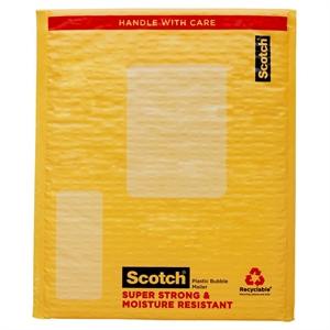 Scotch Bubble Cushion Mailer Super Strong Moisture Resistant 1-ct. 12.5in x 18in, Tan/Kraft