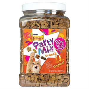 Friskies Party Mix Original Chicken, Liver & Turkey Flavour Crunch Cat Treat - 20 oz