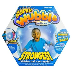 The Amazing Super Wubble Bubble Ball with Pump - Blue