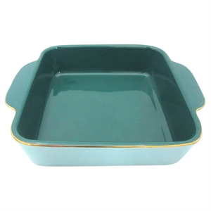 Blue & Gold Open Baking Dish - Threshold, Multi-Colored
