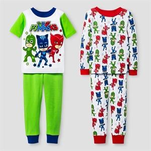 Toddler PJ Masks Snug Fit 4-Piece Cotton Pajama Set - White 3T, Toddler Boy's