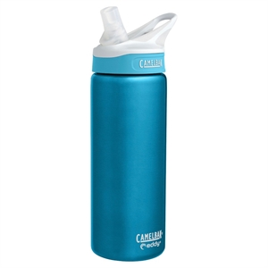 CamelBak Eddy Stainless Vacuum Insulated Water Bottle - Rain .6L, Silver