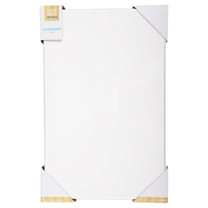 """Hand Made Modern Canvas, Rectangle, 2pk - 11"""" x 17"""", White"""