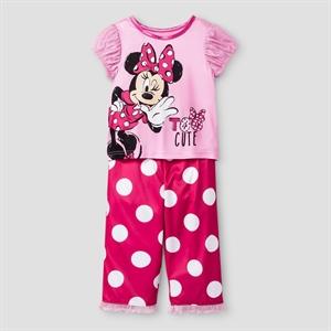 Toddler Girls' Disney Minnie Mouse 2-Piece Pajama Set - Pink 5T, Toddler Girl's