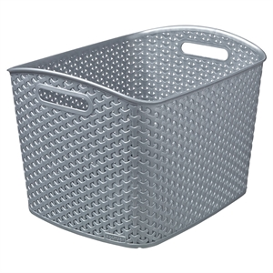 Y Weave Extra Large Storage Bin - Earth Gray - Room Essentials