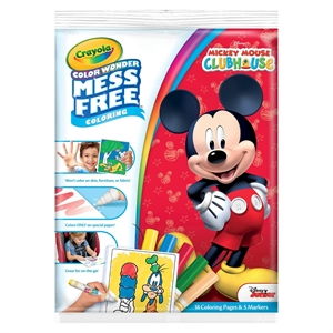 Crayola Color Wonder Coloring Kit - Mickey Mouse Clubhouse, Multi-Colored