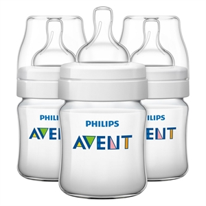 Philips Avent Anti Colic Baby Bottle 125 ML/4oz 3pk, Clear