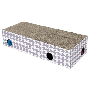 Corrugate Finder Box with Scratch Surface Cat Toy - (L) - Boots & Barkley, Purple