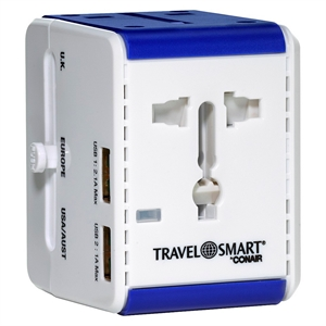 Travel Smart All-In-One Adapter with 2 Usb Ports