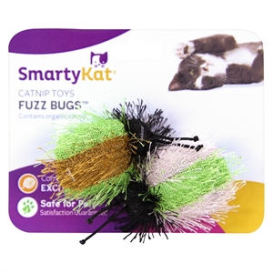 SmartyKat FuzzBugs Cat Toy, Multicolor Rainbow
