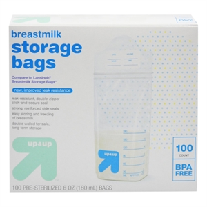 Milk Storage Bags 100 ct - up & up, - Dnu