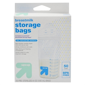 Milk Storage Bags 6oz 50 ct