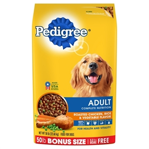 Pedigree Adult Complete Nutrition Chicken Flavor Dry Dog Food 46.8lb Bag