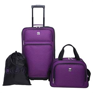 Skyline Luggage Set - Purple