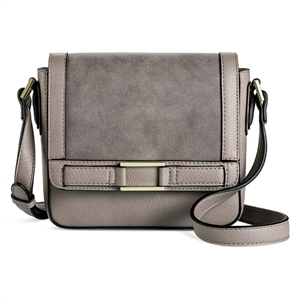 Cross Body Bags Merona Light Gray Solid, Women's, Size: Large