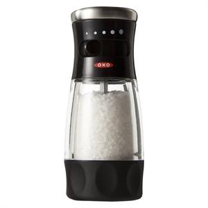 Oxo SoftWorks Salt Grinder, Silver/Clear