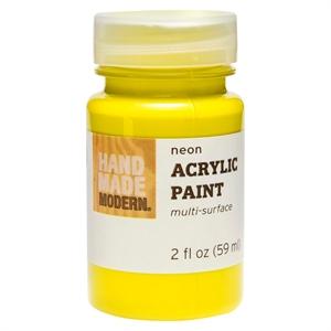 Hand Made Modern - 2oz Neon Acrylic Paint - Yellow, Neon Yellow