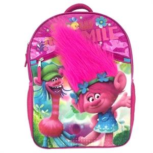 DreamWorks Trolls Large Hair Kids Backpack - (Pink)