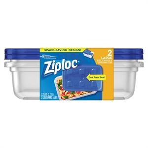 Ziploc Large Rectangle 2ct Containers, Blue