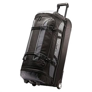 American Tourister 30 Rolling Duffel Bag - Black/Grey, Gray